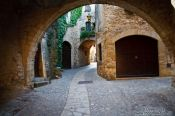 Travel photography:Passage in the old town in Pals, Spain