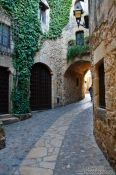 Travel photography:Street in Pals, Spain