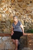 Travel photography:Woman in Pals, Spain