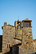 Travel photography:Skyline of the old town in Pals, Spain