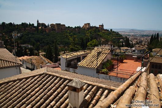 View of the Alhambra from Granada`s Albayzin district