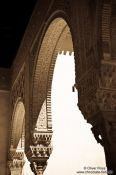 Travel photography:Arches in Granada`s Alhambra, Spain