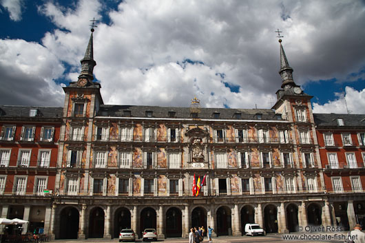 Painted facades on Madrid´s Plaza Mayor