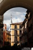 Travel photography:One of the gates to the Plaza Mayor in Madrid, Spain