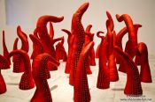 Travel photography:Exhibit by Yayoi Kusama in the Reina Sofia museum, Spain