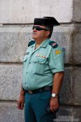 Travel photography:Madrid policeman, Spain