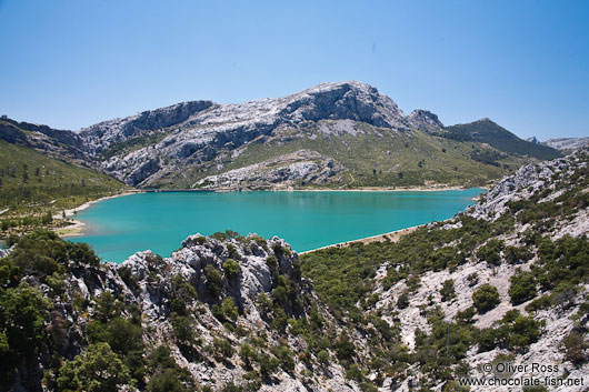 Embassament de Cuber water reservoir in the Serra de Tramuntana mountains