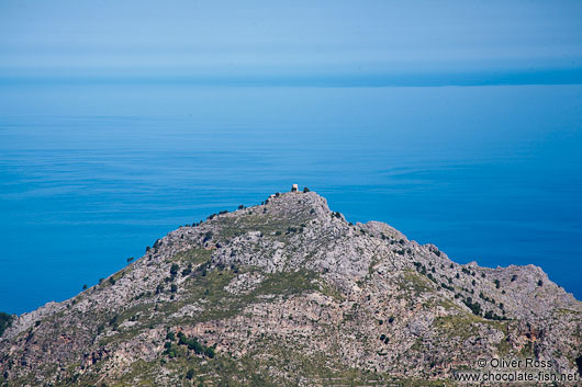 Old watch tower in the Serra de Tramuntana mountains