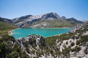 Travel photography:Embassament de Cuber water reservoir in the Serra de Tramuntana mountains, Spain