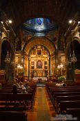 Travel photography:Inside the main chapel at Lluc Monastery, Spain