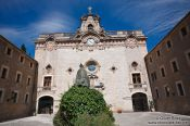 Travel photography:Church at Lluc Monastery, Spain
