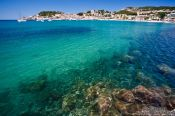 Travel photography:Turquoise waters in the Port de Soller harbour, Spain