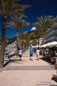 Travel photography:Sea side promenade in Port de Soller, Spain