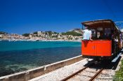 Travel photography:The old tram in Port de Soller, Spain