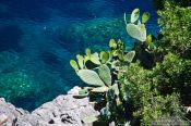 Travel photography:View of the turquoise water at Sa Calobra, Spain