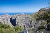 Travel photography:Panoramic view in the Serra de Tramuntana mountains, Spain