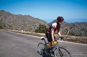 Travel photography:Cyclist in the Serra de Tramuntana mountains, Spain