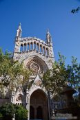 Travel photography:The main cathedral in Soller, Spain