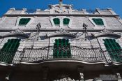 Travel photography:Facade of a house in Soller, Spain