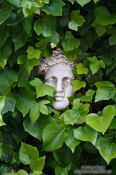Travel photography:Overgrown marble face outside the Valldemossa Cartuja Carthusian Monastery, Spain