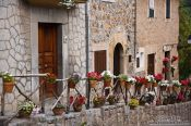 Travel photography:Decorated street in Valldemossa village, Spain