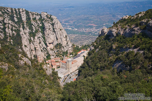 Panoramic view of the Montserrat monastery