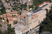 Travel photography:Aerial view of the Montserrat monastery, Spain