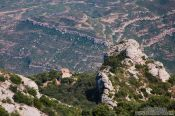 Travel photography:Isolated hut near Montserrat , Spain