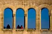 Travel photography:Colonnade in Montserrat, Spain