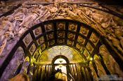 Travel photography:Tunnel ascending to the Virgin of Montserrat , Spain