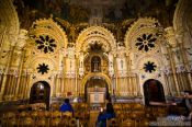 Travel photography:Small chapel in the Montserrat monastery, Spain