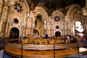 Travel photography:Small chapel inside the Montserrat monastery, Spain