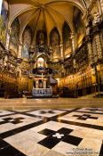 Travel photography:Altar of the main church at Montserrat monastery, Spain