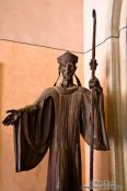 Travel photography:Sculpture inside the main church at Montserrat monastery, Spain