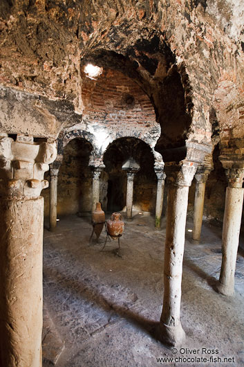 Inside the old Arabic Baths in Palma