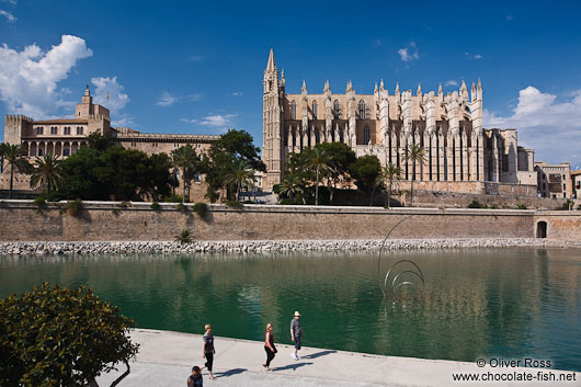 La Seu cathedral (right) with Almoina palace in Palma