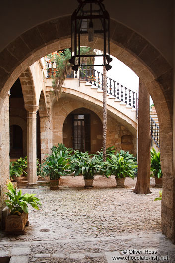 Patio inside a Palma house