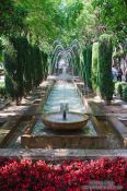 Travel photography:Water fountain in the park S'Hort del Rei in Palma, Spain