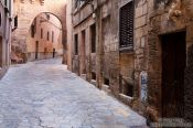 Travel photography:Street in the old town of Palma, Spain
