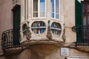 Travel photography:Facade detail in Palma, Spain