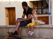 Travel photography:People in Palma, Spain