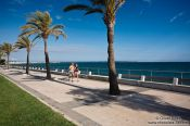 Travel photography:Sea side promenade in Palma, Spain