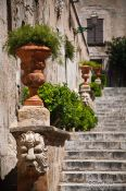 Travel photography:Stair case with fountains in Palma, Spain