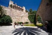 Travel photography:Old arch near the Almoina pallace in Palma, Spain