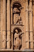 Travel photography:Facade detail at the cathedral La Seu in Palma, Spain