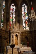 Travel photography:Small altar inside the Santa Eulalia church in Palma, Spain