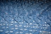 Travel photography:Glasses in a restaurant outside the Palma Modern Art Museum, Spain