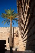 Travel photography:Courtyard of the Palma Modern Art Museum, Spain