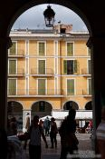 Travel photography:Entrance to the Plaza Major in Palma, Spain