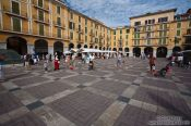 Travel photography:The Plaza Major in Palma, Spain